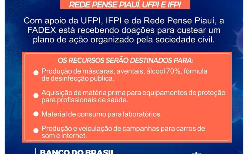 FADEX - PENSE PIAUÍ (CAMPANHA TODOS POR TODOS CONTRA O CORONAVÍRUS)