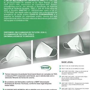 máscaras TNT para proteção facial quatro camadas